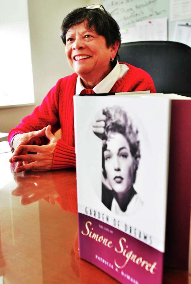 (Melanie Stengel ó New Haven Register)   New Haven Public School grant coordinator, Pat DeMaio, has gotten her first book published 1/15.  it is a biography of Simone Signoret. Photo: Journal Register Co.
