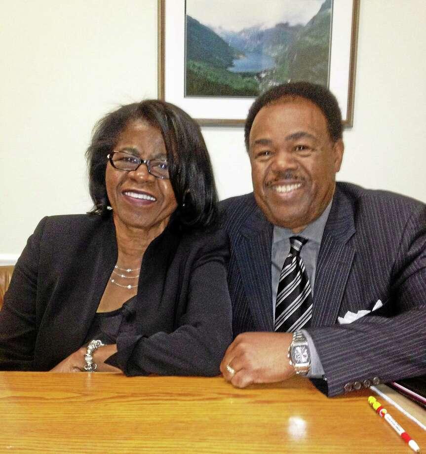 Shirley Love Joyner and her husband, Edward Joyner. Photo: Mary O'Leary — New Haven Register