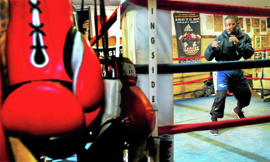 """Boxer Tramaine """"Midget"""" Williams at Ring One Boxing gym in New Haven Photo: Peter Hvizdak — Register FILE PHOTO   / ©Peter Hvizdak /  New Haven Register"""