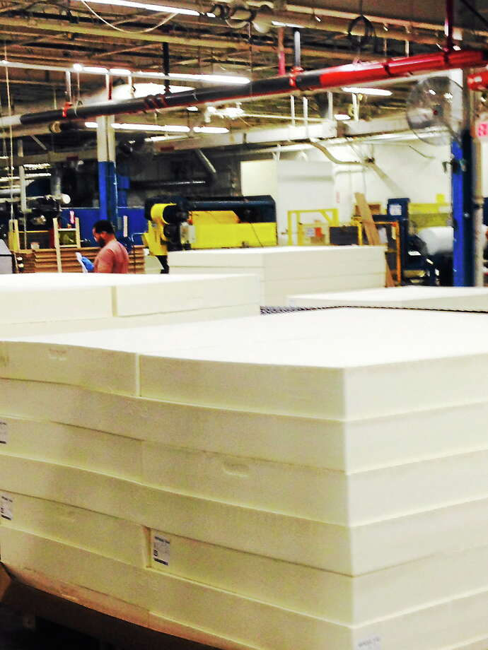 Production is back in full swing at Latex International in SHelton. Photo: CONTRIBUTED PHOTO