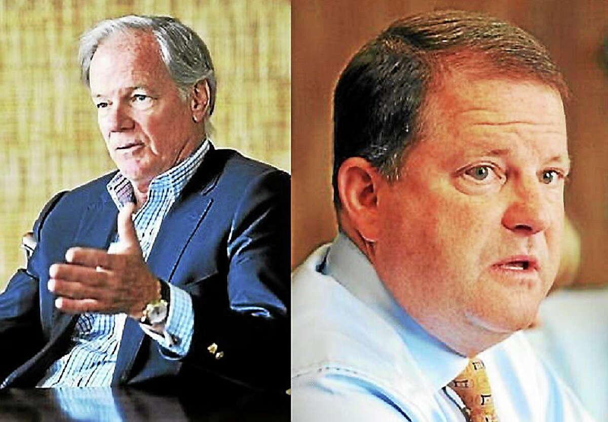 New Haven Register file photos: Tom Foley, left, and John McKinney.