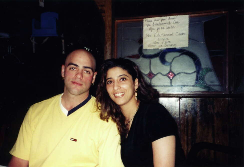 Photo courtesy of Rizk family Undated photo Joseph McCabe, left, a Schenectady police officer, and his wife, Diane Rizk McCabe, 32, who died in 2007 following complications from childbirth. The couple lived in Rotterdam.