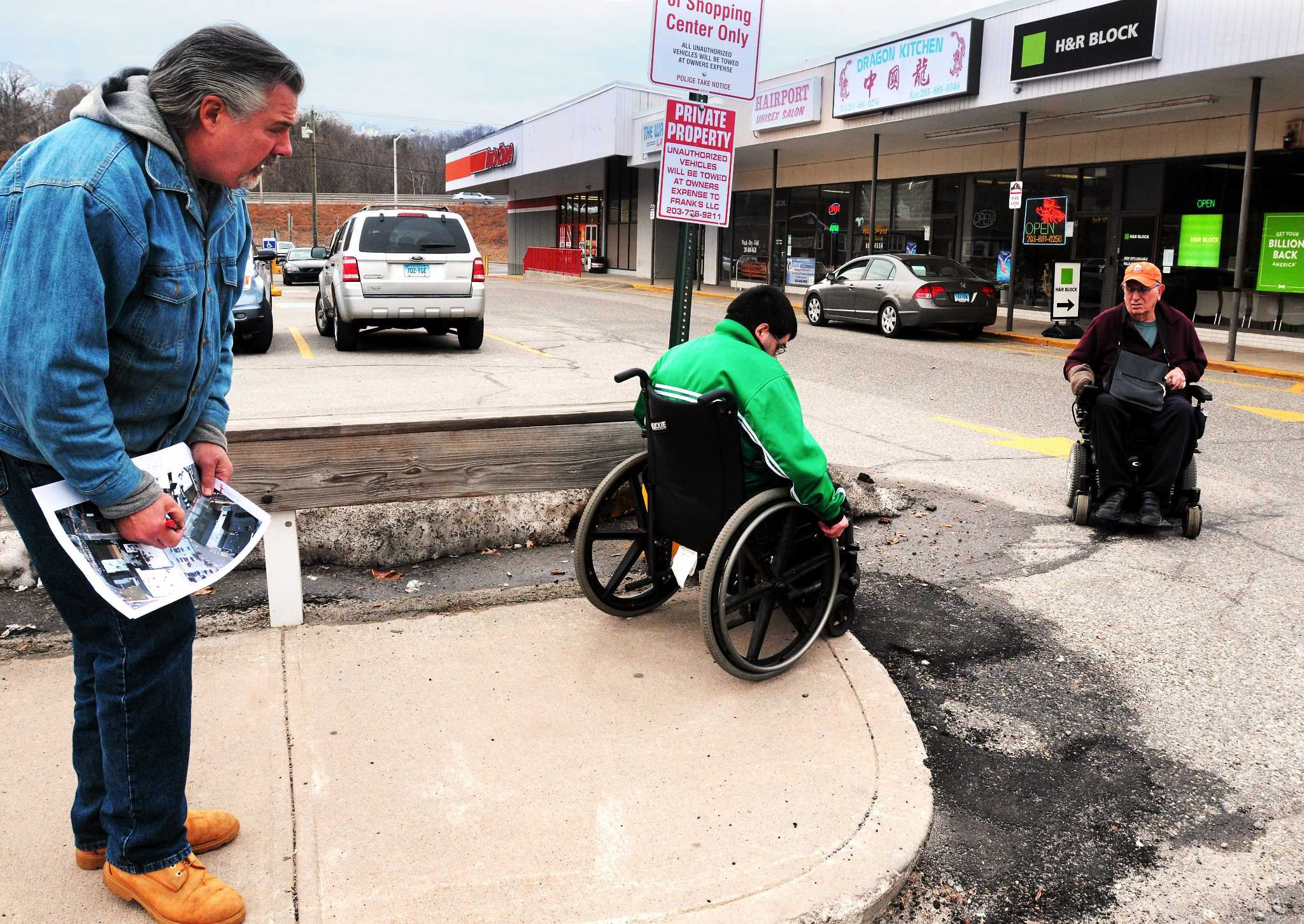 Sidewalk Accessibility Focus Of Seymour Downtown Tour