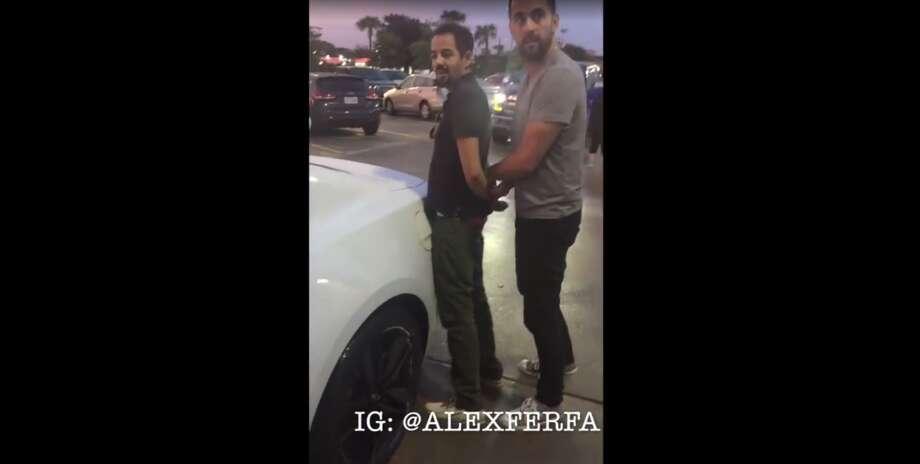 Sirkon Ash, 28, was restrained by Alejandro Fernandez who saw him driving erratically in Houston's River Oaks area. Photo: Alejandro Fernandez, @alexferfa