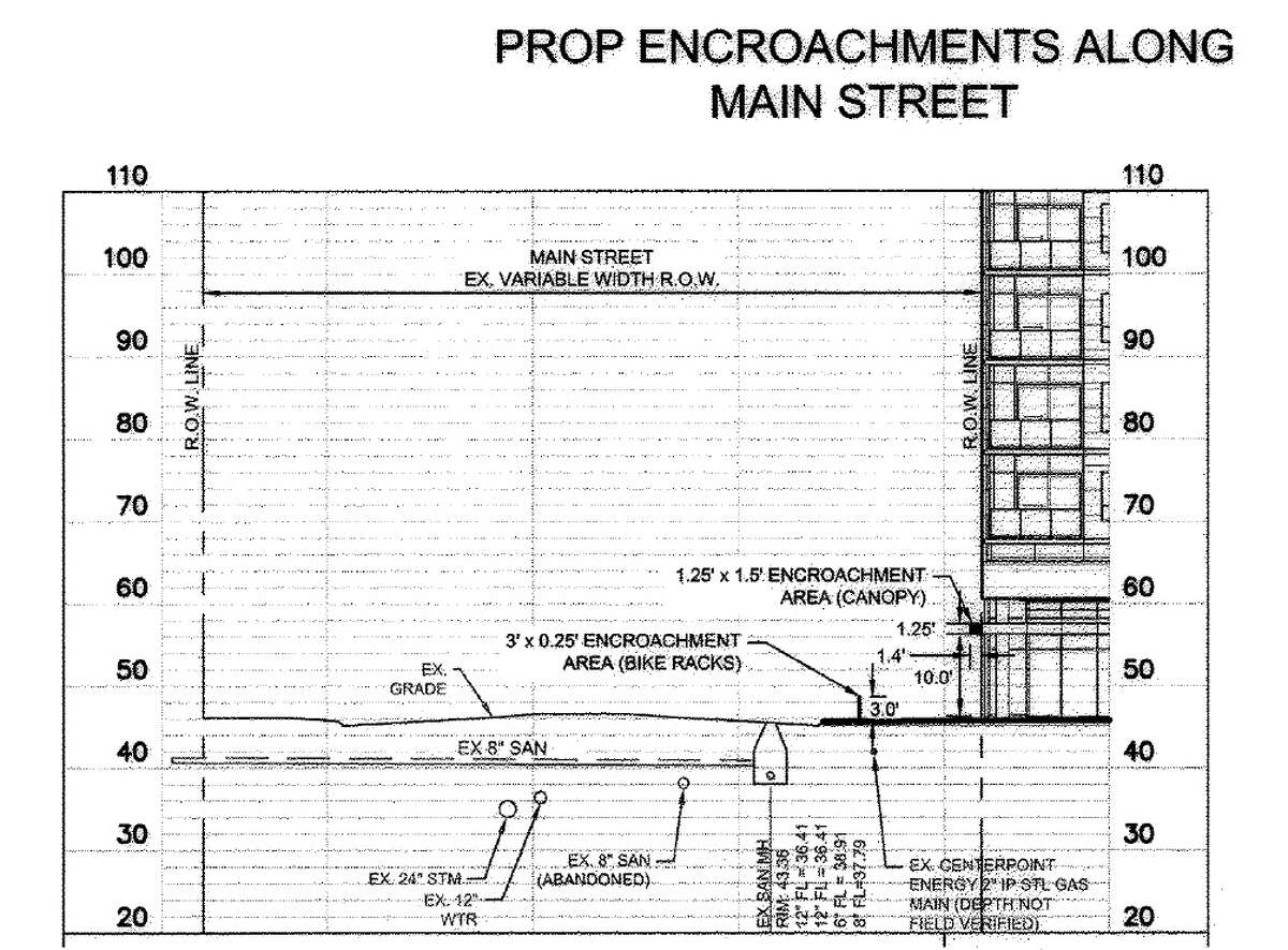 Plans show how a 26-story tower, currently under construction, will change the face of Main Street in Midtown.