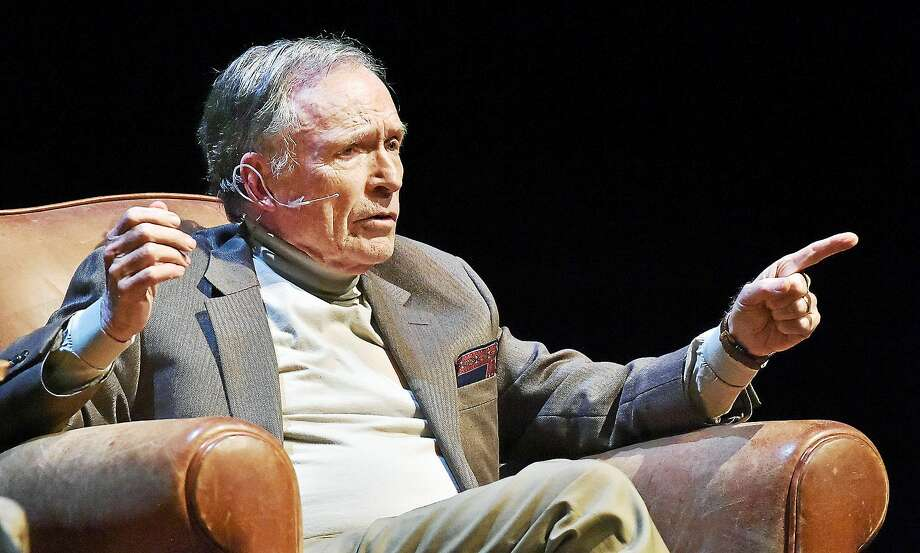Dick Cavett discusses his celebrity encounters during an appearance at Long Wharf Theatre. Photo: Catherine Avalone — New Haven Register     / New Haven RegisterThe Middletown Press