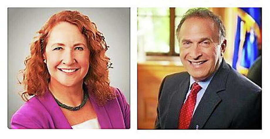 Incumbent U.S. Rep. Elizabeth Esty and her Republican challenger in the 5th District congressional race, businessman Mark Greenberg. Photo: Journal Register Co.