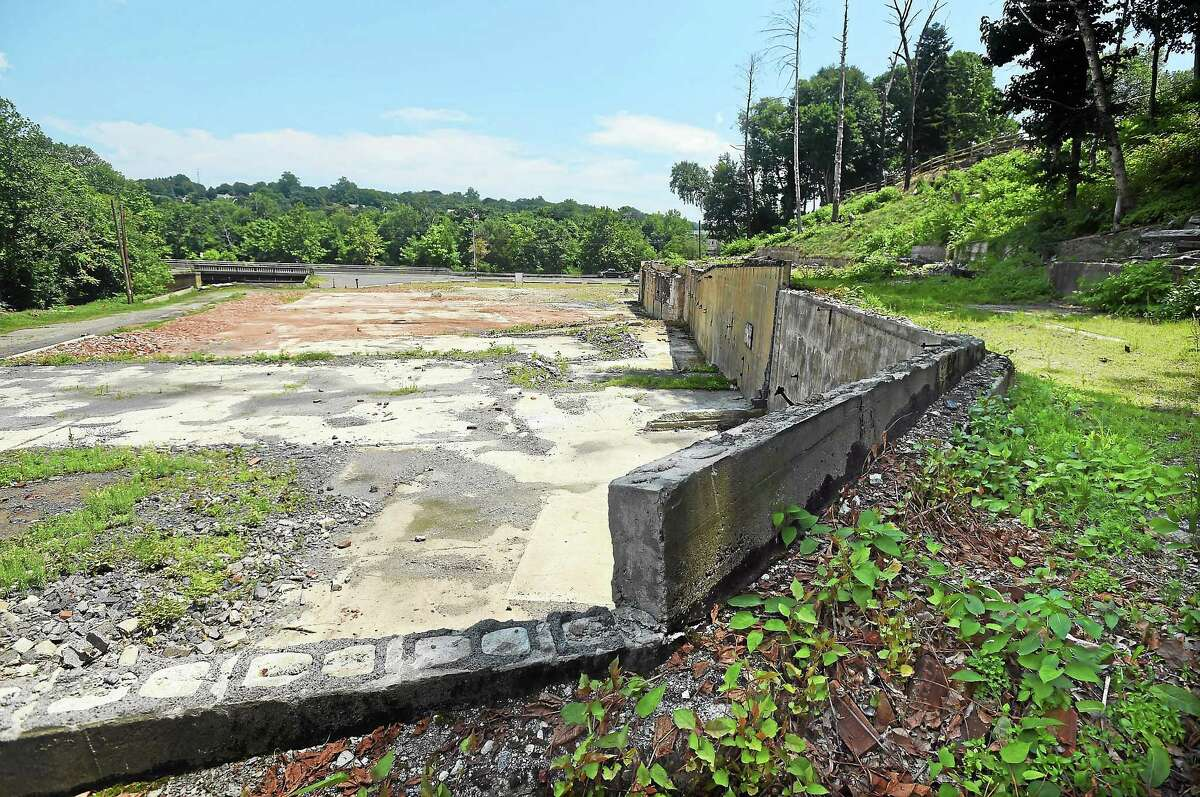 The site of the former Housatonic Wire Co. factory in Seymour July 12.
