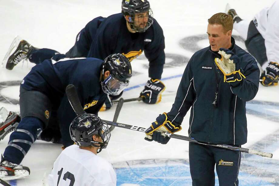 Quinnipiac hockey coach Rand Pecknold. Photo: The Associated Press File Photo   / AP