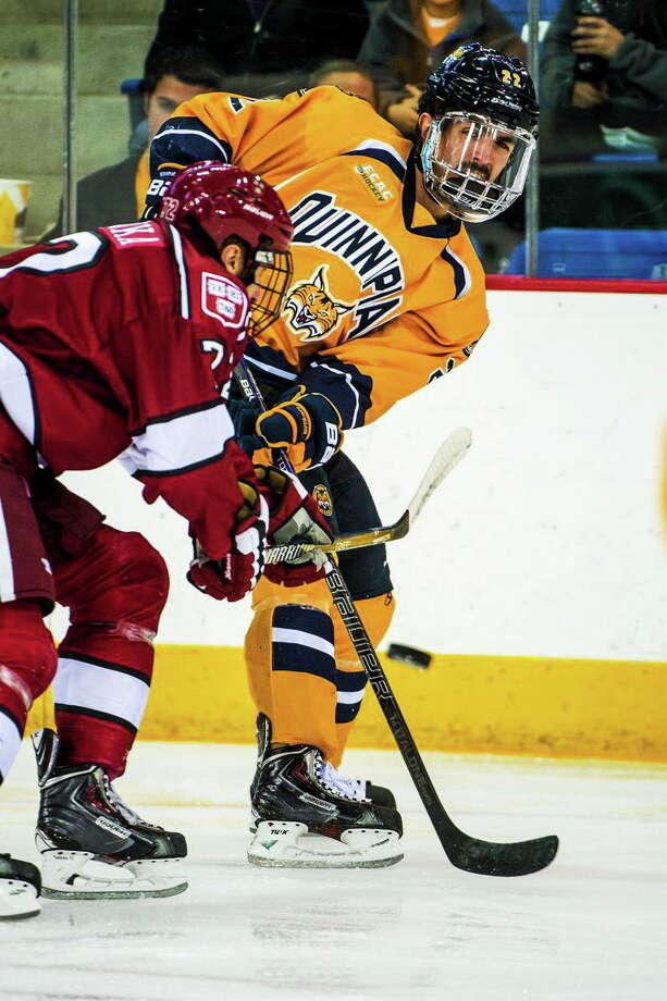Quinnipiac's Dan Federico has been the top defenseman for the fifth-ranked Bobcats this season. Photo: Photo Courtesy Of Quinnipiac Athletics   / Copyright John Hassett 2013. All rights reserved