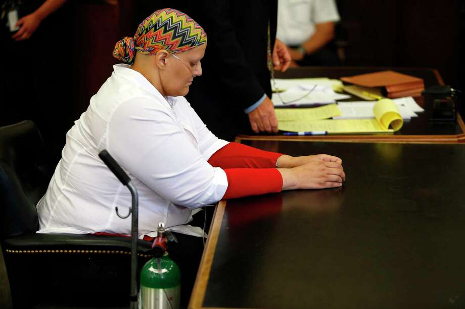 Tanya Singleton, a cousin of former New England Patriots tight end Aaron Hernandez, wants a conspiracy charge against her dismissed. Photo: Jessica Rinaldi — The Boston Globe File Photo   / Pool, The Boston Globe