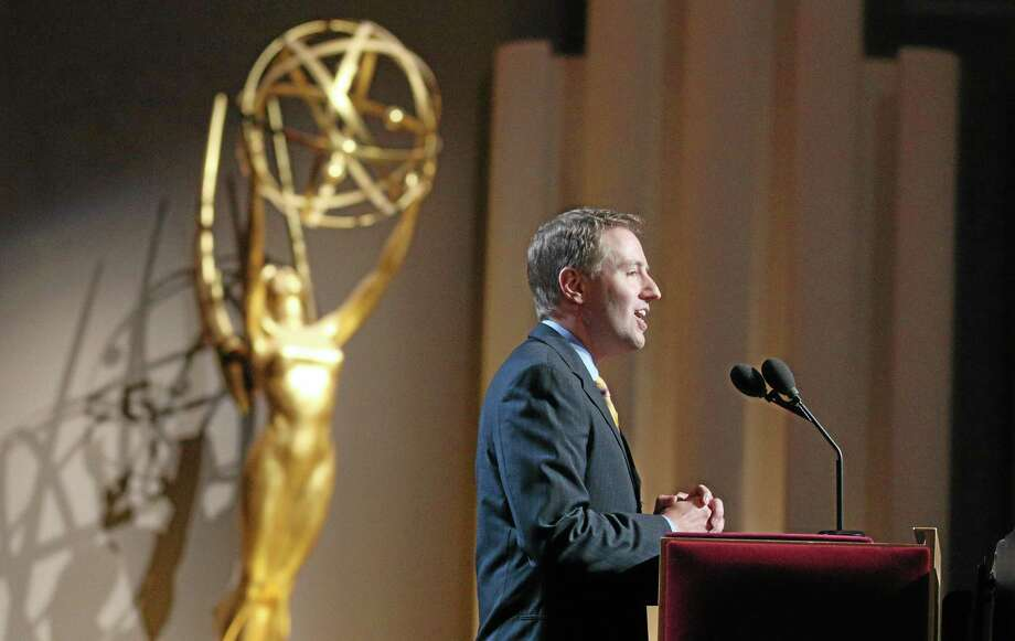 IMAGE DISTRIBUTED FOR THE TELEVISION ACADEMY - Maury McIntyre, President and COO of the Television Academy, makes opening remarks at the 66th Primetime Emmy Nominations Announcement on Thursday, July 10, 2014, at the Leonard H. Goldenson Theater in the NoHo Arts District in Los Angeles. (Photo by Brian Dowling/Invision for the Television Academy/AP Images). Photo: Invision For The Television Academy / Invision
