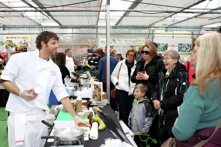 Jason Sobocinski, owner and founder of New Haven's Caseus Fromagerie Bistro, at a cooking demo at last year's Spring Expo in North Branford. Photo: Journal Register Co.