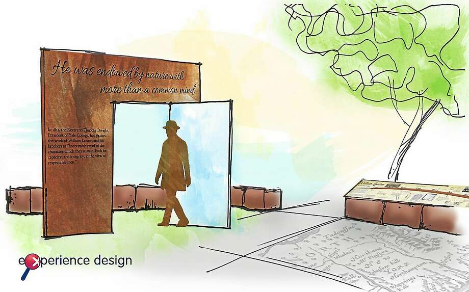 An artist's depiction of the plaza on the Farmington Canal Greenway that will be dedicated in honor of William Lanson, a former slave who oversaw construction of the New Haven section of the canal. Photo: Journal Register Co.