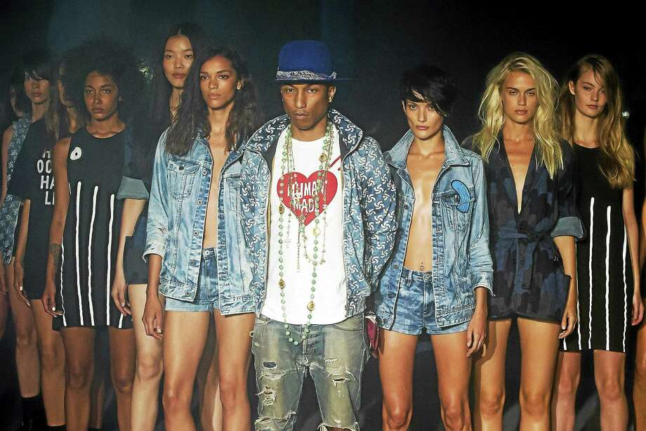 Pharrell Williams reveals the Raw for the Oceans Spring/Summer 2015 collection presented by G-Star RAW and Bionic during Fashion Week on Sept. 5, 2014, in New York. Photo: Charles Sykes, Invision - AP   / AP2014
