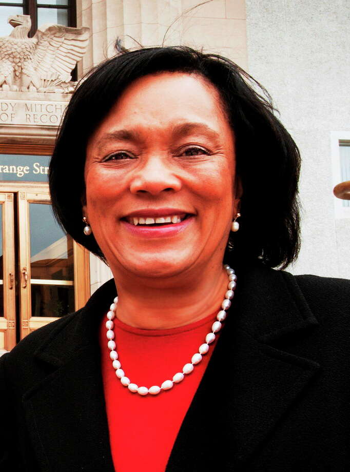 New Haven    State Senator, Toni Harp, outside the Hall of Records.  She had just filled out the paperwork necessary for launching her mayoral campaign.     Melanie Stengel/Register Photo: Journal Register Co.
