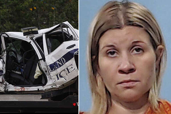 Image 2/20 Pearland police officer Endy Ekpanya died after a June 12, 2016 head-on collision involving a vehicle and his patrol car. The other driver, Amber Willemsen is on trial on a charge of intoxication manslaughter.