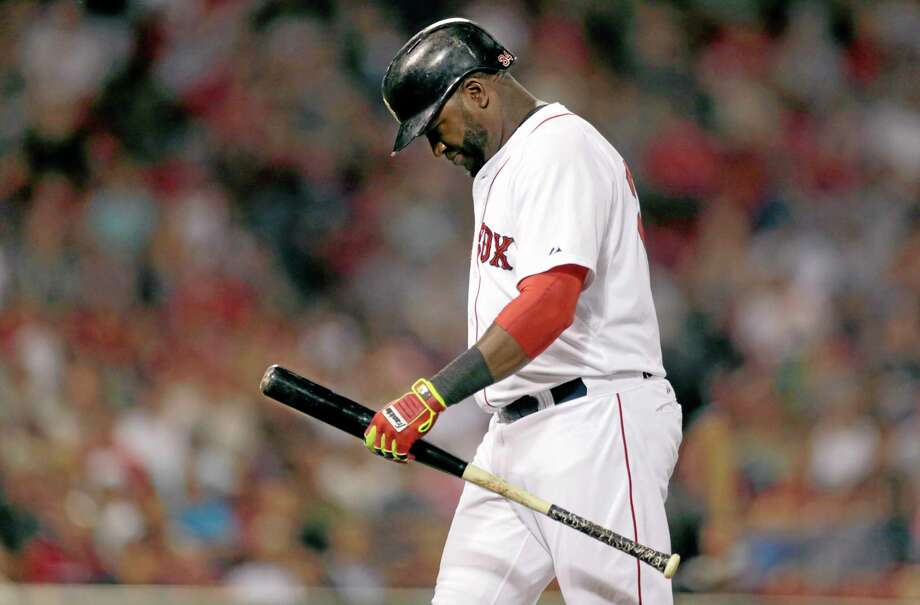 Red Sox designated hitter David Ortiz heads to the dugout after grounding out during the seventh inning against the Chicago White Sox at Fenway Park on Monday. Photo: Charles Krupa — The Associated Press   / AP