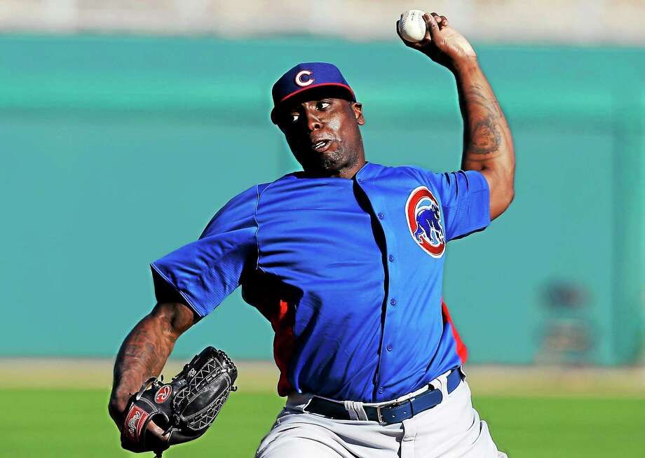 Former major league pitcher Dontrelle Willis is now with the Bridgeport Bluefish, trying to resurrect his major     league career. Photo: Associated Press File Photo   / AP2013
