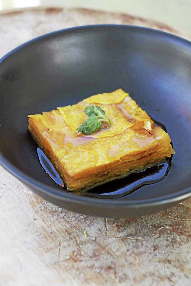 Sweet Potato Tart With Parmesan and Maple Syrup. Photo: Matthew Mead - Associated Press   / FR170582 AP