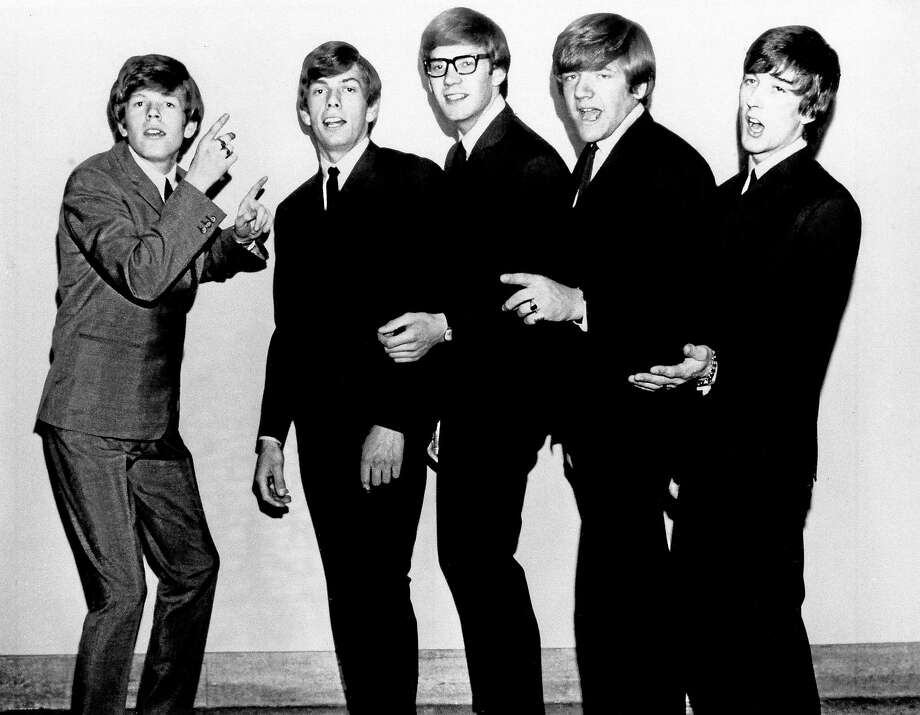 """Herman's Hermits looked like this in 1965: Shown here are Peter Noone, left, Barry Whitwam, Derek """"Lek"""" Leckenby, Karl Green and Keith Hopwood. Photo: MGM Records - AP   / 1965 AP"""