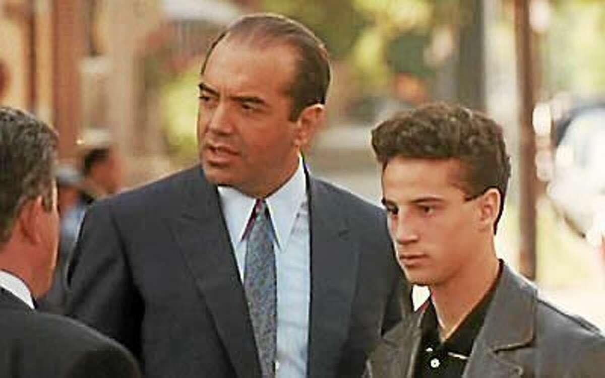 "Palminteri, left, and Brancato in ""A Bronx Tale."""