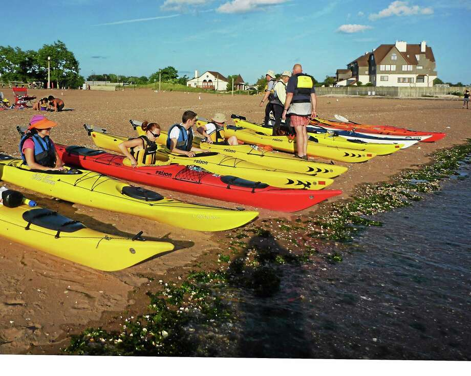 Wednesday night kayaking begins this week at Lighthouse Point Park in New Haven. Photo: Martin Torresquintero