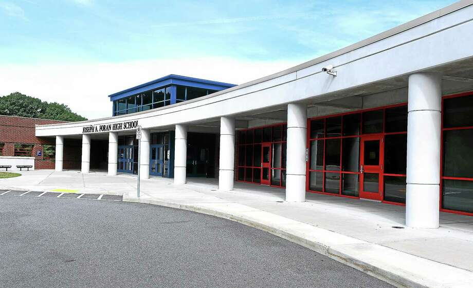 Joseph Foran High School in Milford closed because of an air conditioning problem. Photo: (Arnold Gold-New Haven Register)