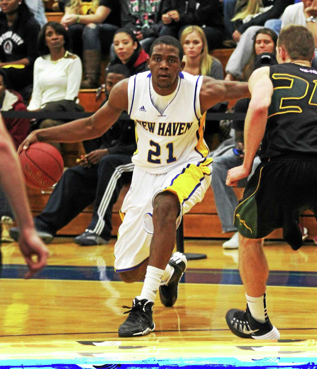 Eric Anderson and the New Haven men's basketball team will take on rival SCSU today with the Northeast-10 Conference championship on the line.