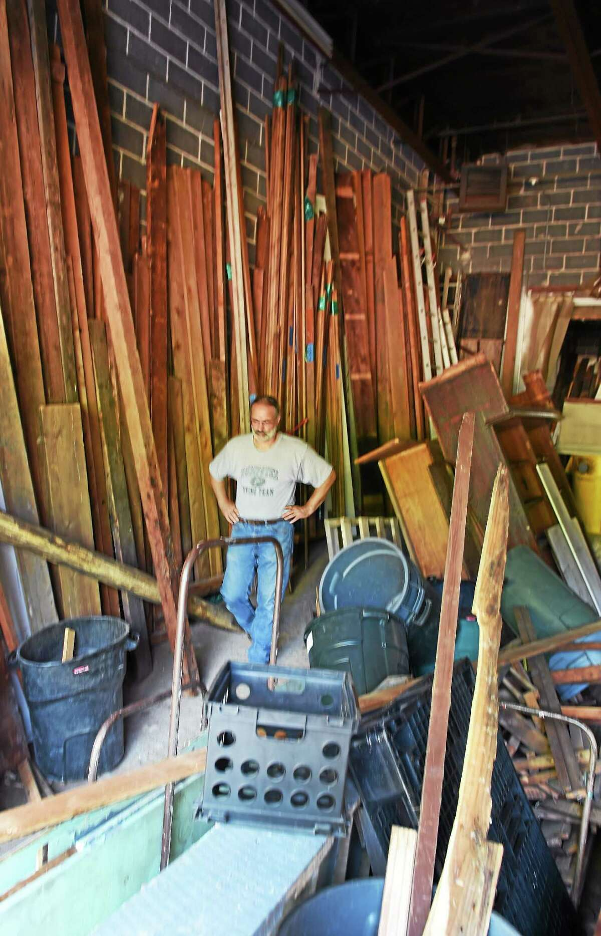 One man's junk is another man's treasure. Urban Miners, owned by Joe DeRisi in Hamden, Connecticut is a salvage company that deconstructs older homes and buildings slated for demolition, selling the salvaged materials, goods, artifacts and objects found in the homes to anyone looking for a deal. A specialty of Urban Miners and DeRisi is antique wooden flooring. Urban Miners is what some today would a recycling company.