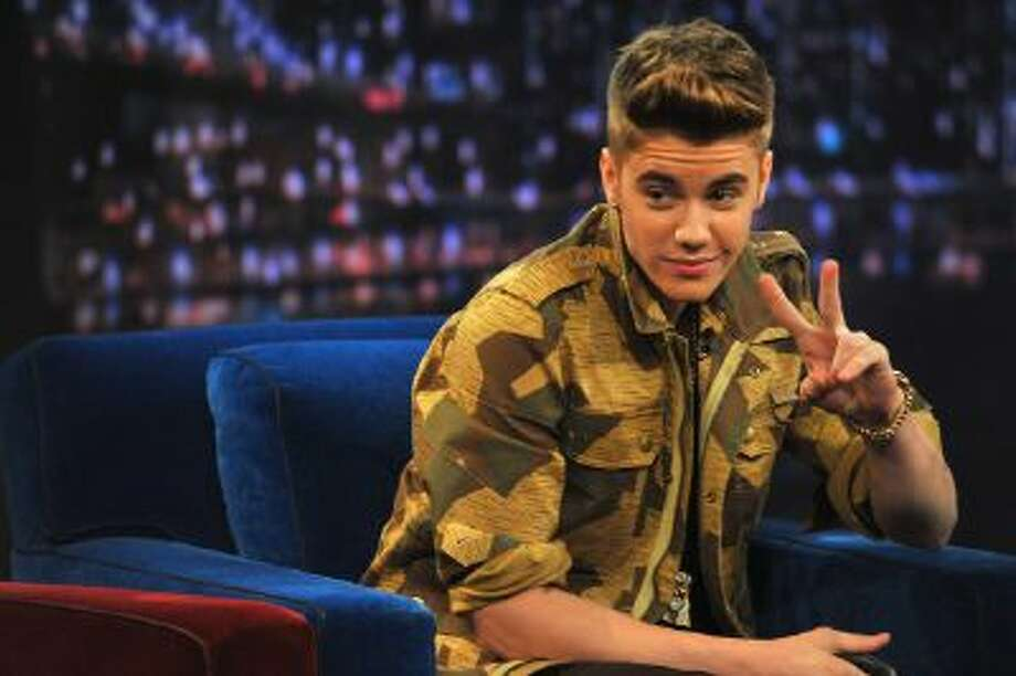 Justin Bieber visits 'Late Night With Jimmy Fallon' on Feb. 5, 2013 in New York.