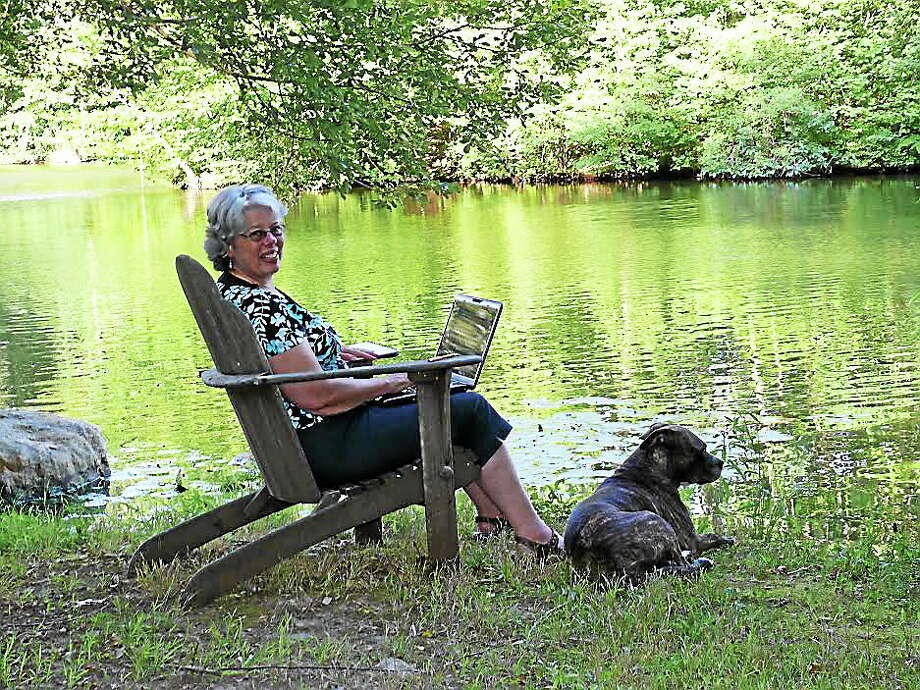 Inspiration for a good number of Kathleen Kudlinski's nature columns came right from her backyard at Malleys Pond in Guilford. Photo: Contributed