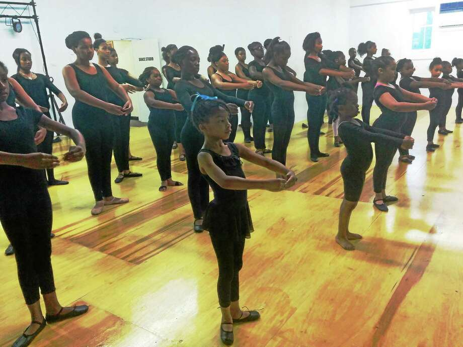 "Students from Tia Russell Dance Studio rehearse for their show ""Controversy."" Photo: Journal Register Co."