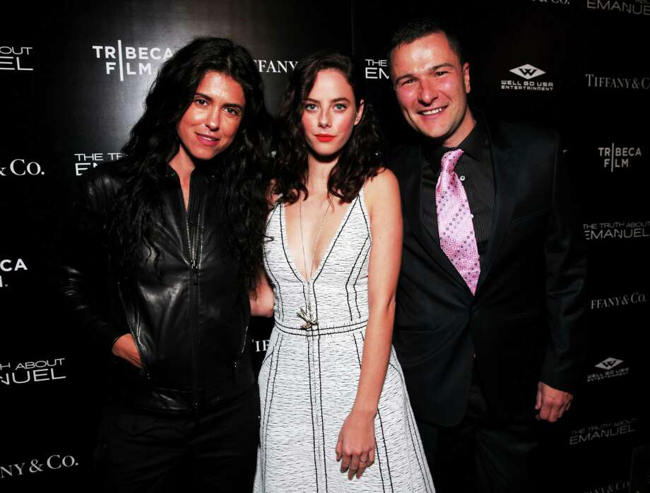 """Francesca Gregorini, Kaya Scodelario and Matthew Brady arrive at the Los Angeles premiere of """"The Truth About Emanuel"""" at ArcLight Hollywood last month Photo: Todd Williamson - Invision   / Invision"""