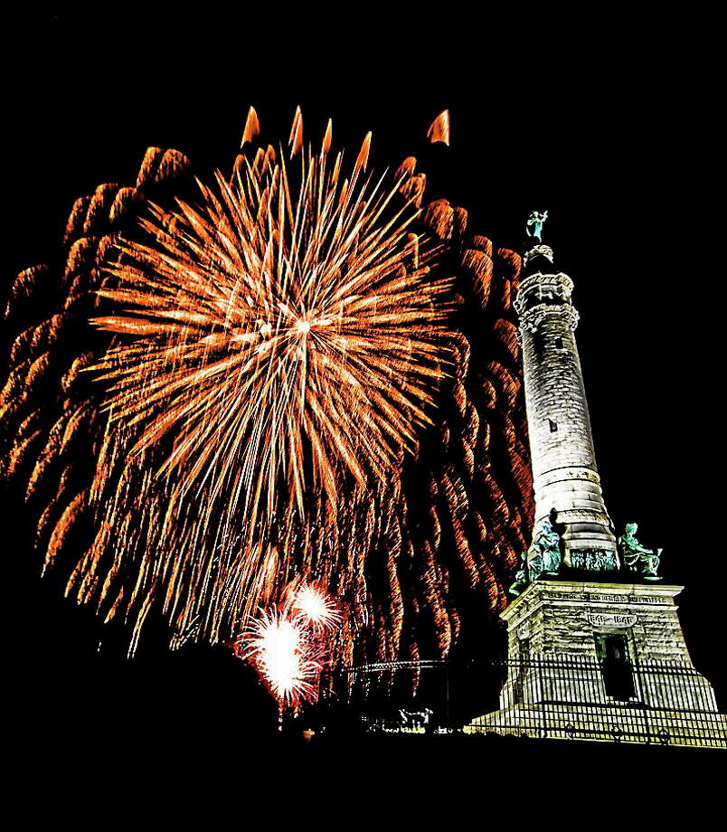 Fireworks at East Rock Park in New Haven. Photo: City Of New Haven Photo
