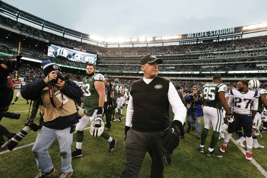 Rex Ryan will likely be coaching his final game with the Jets today in Miami. Photo: The Associated Press File Photo   / AP