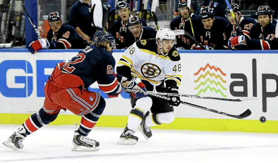 The New York Rangers signed left wing Chris Bourque (48) on Wednesday. Photo: Kathy Willens — The Associated Press   / AP2013