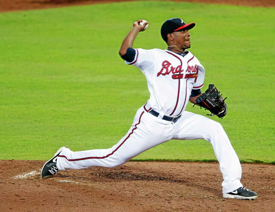 Atlanta Braves starting pitcher Julio Teheran works in the fifth inning against the New York Mets. Photo: John Bazemore  — The Associated Press   / AP