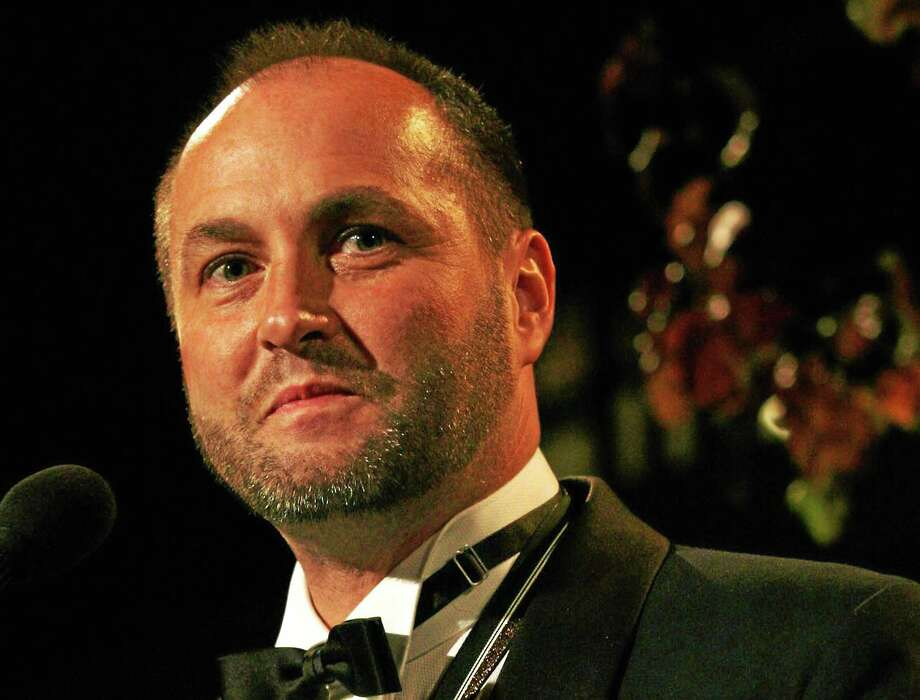 """This Nov. 18, 2009, file photo shows Colum McCann, winner of the 2009 National Book Award for Fiction for his book """"Let the Great World Spin""""  at the National Book Awards in New York. Police said McCann was assaulted Saturday night outside of a New Haven hotel. Photo: AP Photo/Tina Fineberg, File    / FR73987 AP"""