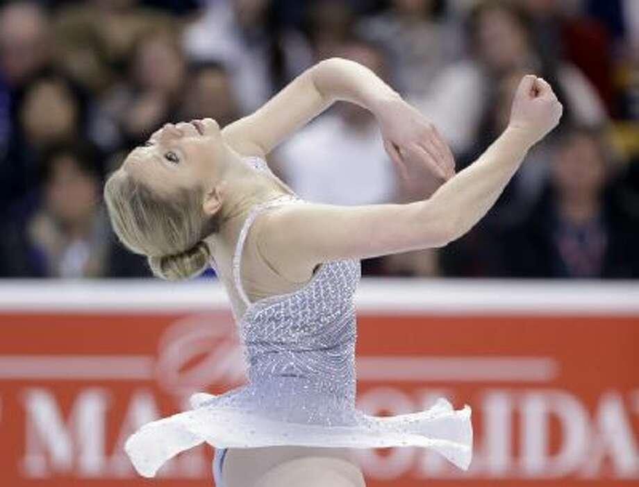 Rachael Flatt skates during the women's short program at the U.S. Figure Skating Championships Thursday in Boston.