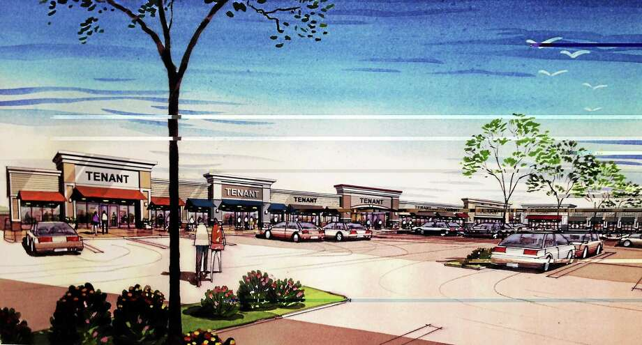A rendering of the shopping center proposed for the Guilford Commons site at 1919 Boston Post Road. Photo: Journal Register Co.