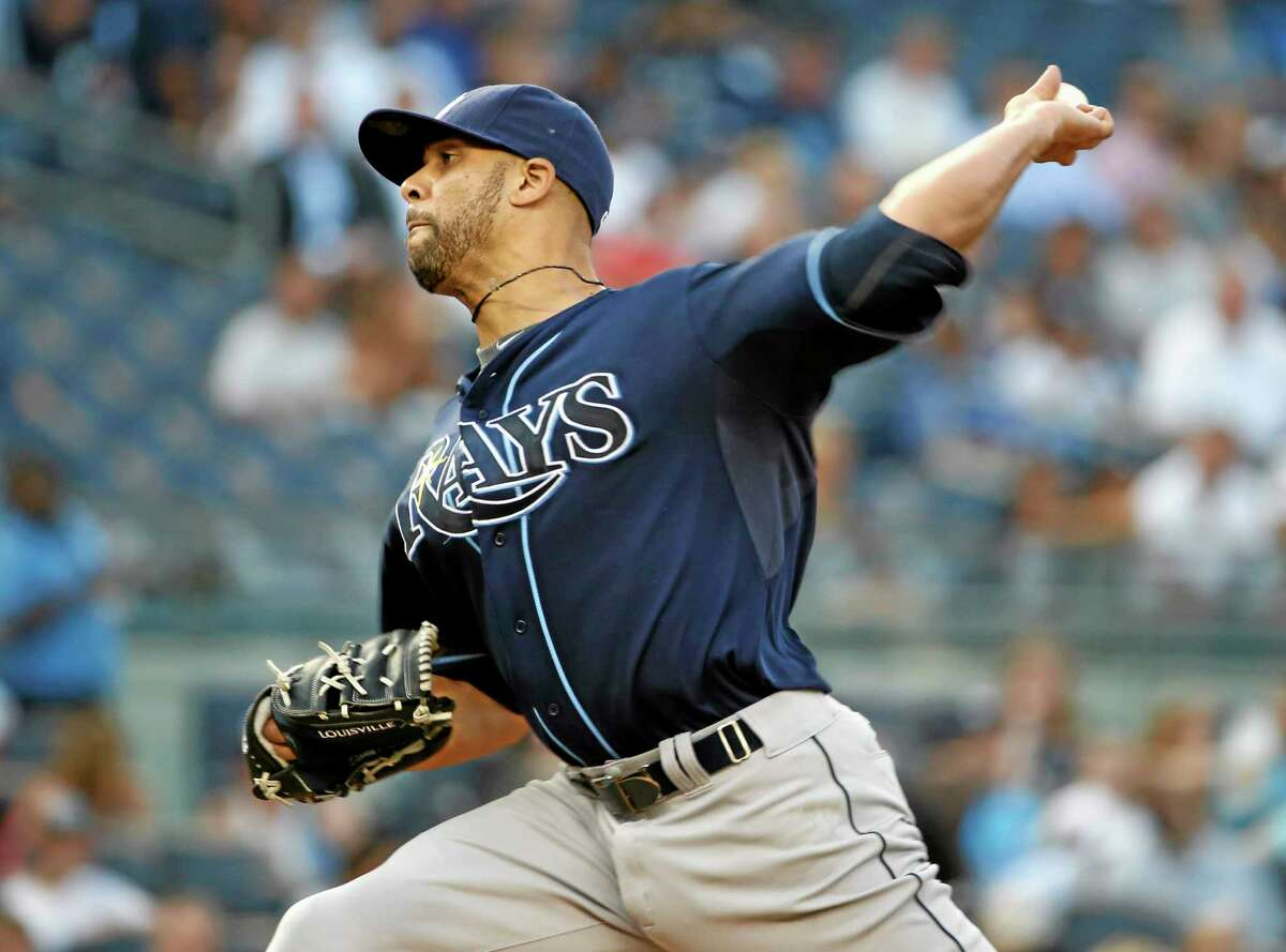 Tampa Bay Rays starting pitcher David Price delivers a pitch in the first inning of Tuesday's 2-1 victory over the New York Yankees.