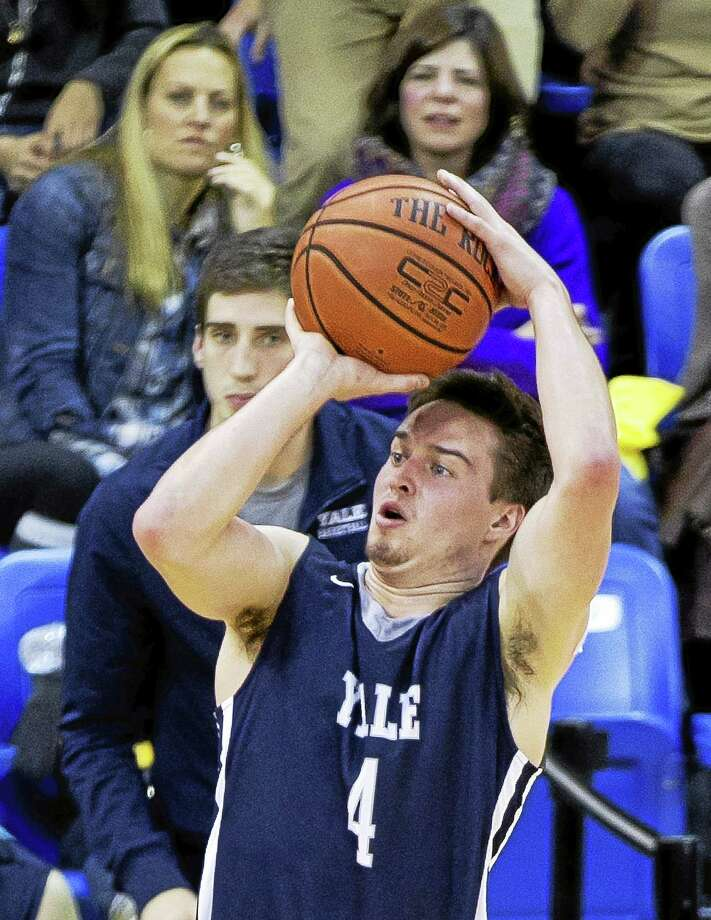 PHOTO COURTESY OF YALE ATHLETICS  Yale's Jack Montague saw limited playing at the start of last season, but earlier this month hit the game-winning shot against UConn. Photo: Steve Musco / Steve Musco