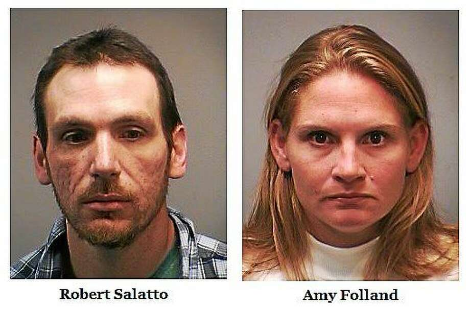 Robert Salatto and Amy Folland. Photos courtesy of the New Haven Police Department. Photo: Journal Register Co.