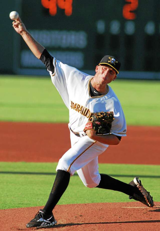 Former Yale pitcher Pat Ludwig is with Double-A Altoona in the Pittsburgh Pirates' organization. Photo: Photo Courtesy Of The Bradenton Marauders