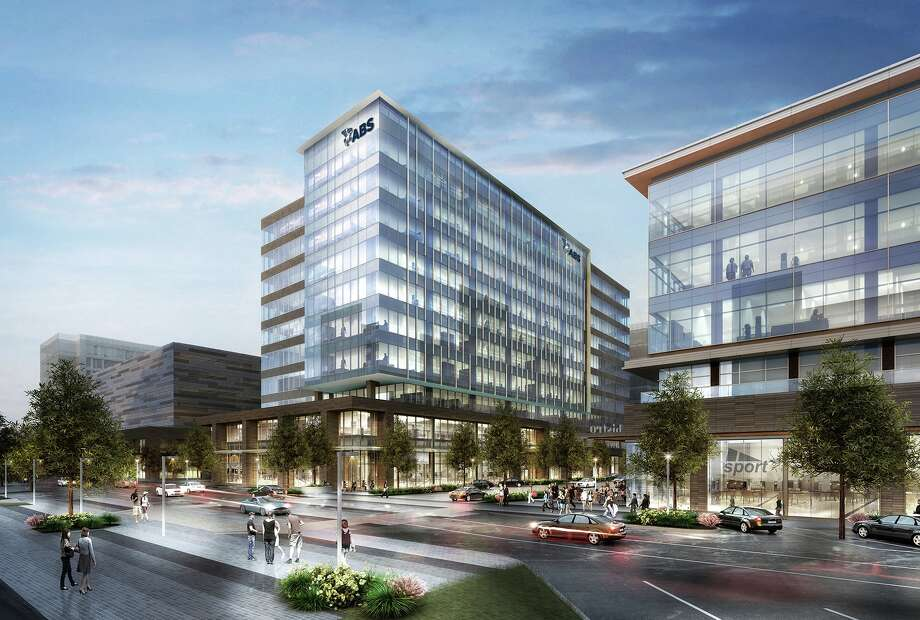 American Bureau of Shipping is getting a new headquarters in Springwoods Village. The 326,800-square-foot building will have        24,000 square feet of retail space on the ground floor.A venture of Patrinely Group, USAA Real Estate Co. and CDC Houston is developing the building. Photo: Patrinely Group