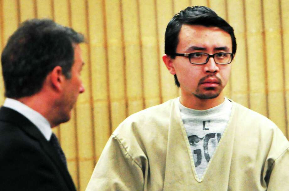 William Dong appears in court Jan. 14 with his lawyer Frederick Paoletti Jr. Photo: Peter Hvizdak — New Haven Register FILE PHOTO   / ©Peter Hvizdak /  New Haven Register