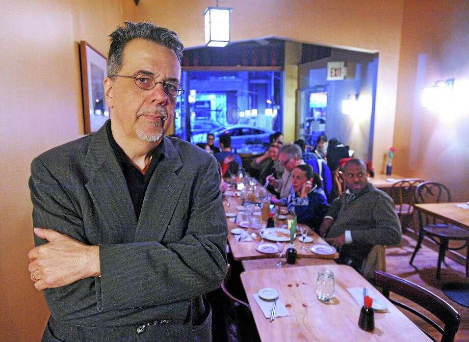 Filmmaker Gorman Bechard at Miya's Sushi in New Haven. Photo: Mara Lavitt — New Haven Register      / Mara Lavitt