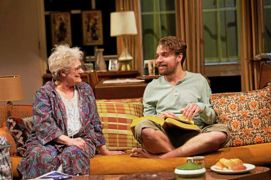 "Who wouldn't love a grandmother who lets you put your feet on the couch? Zouanne LeRoy, left, and Micah Stock in a scene from Amy Herzog's ""4000 Miles"" at Long Wharf Theatre. Photo: © T Charles Erickson   / © T Charles Erickson"