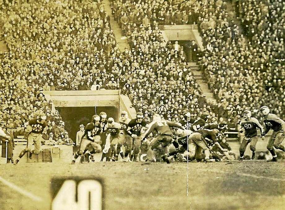 Hillhouse takes on West Haven at the Yale Bowl on Nov. 30, 1939. Photo: Photo Courtesy Of Yale Athletics